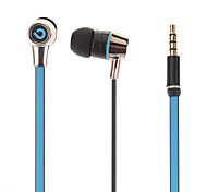 3,5 mm en la oreja los auriculares estéreo de la Unidad de Carreteras de 10 mm y micrófono para iPhone y otros (123 cm)