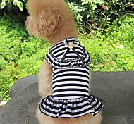Schöne College Style Zebra-Kleid für Haustiere Hunde (verschiedene Farben, Größen)