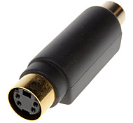 S-Video Female naar RCA Female Adapter