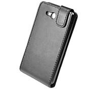 negro caso de cuero de la PU ultra-delgada elegante para nokia lumia 820 4.3inch teléfono de pantalla
