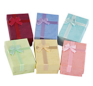 Sweet Multicolor Paper Jewelry Box For Necklace (Pink,Red,Blue And More)(1 Pc)