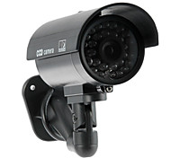 Realistic Looking CCTV Home Surveillance Security CCD Dummy Camera with Flashing LED