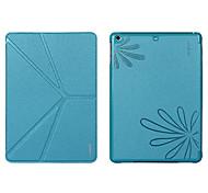 colorido v transformadores soporte plegable con el caso de la impresión de la flor para el ipad 2/3/4