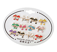 Umbrella Stud Earrings(Random Color)