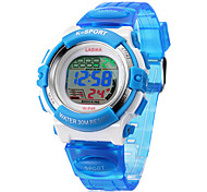 Children's Digital LCD Multifunctional Silicone Band Wrist Watch (Assorted Colors)