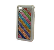 Tilted Parallel Lines  Crystal Diamond  Filled Pc Case for iPhone 4/4S
