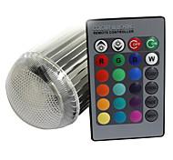 XLZM-RGB9QPD-YK E27 9W 420lm 1-LED RGB света Лампа White / Silver (Номинальное напряжение)