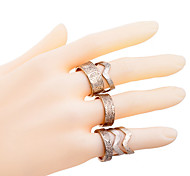 Lureme®6 pieces Fashion Alloy Carve Ring Set