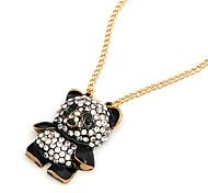 Crystal Panda Pendant Necklace