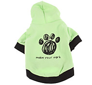 Dog Coat / Hoodie Green / Blue Winter Cartoon