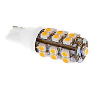 T10 2W 25x3528SMD 75LM 3000-3500K blanco cálido Bombilla LED para el coche (12V DC)