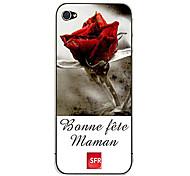 Rose Ganzkörper-Aufkleber für iPhone 4
