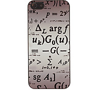 Math Formulas Pattern Smooth Hard Case for iPhone 5/5S