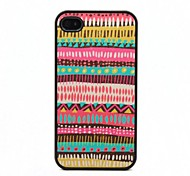 Special Design Pattern Black Frame PC Hard Case for iPhone 4/4S