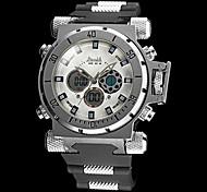 Men's Watch Military Multi-Functional Analog-Digital Big Steel Case