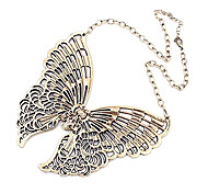 Vintage treasures hollow butterfly necklace N373