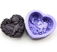 Heart Shaped Angel Silicone Handmade Soap/Cake/Chocolate Mold