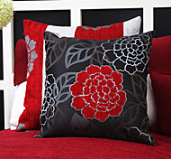 Set of 2 China Flower Jacquard Polyester Decorative Pillow Cover
