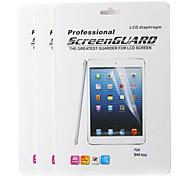 Protecteur d'écran LCD pour Mini iPad 3 Mini iPad Mini iPad 2 w / tissu et le stylet de nettoyage (3 pièces)