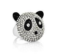 Korean Jewelry Cute Panda Crystal Ring