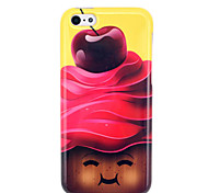 Chocolate rosto sorridente Soft Case TPU IMD para o iphone 5C