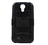 Plastic snd Silicon Protect Case with Stand for Samsung 9500/S4