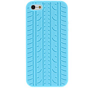 Tyre Tread Pattern Silicone Soft Case for iPhone 5/5S (Assorted Colors)