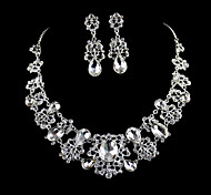 Fashion Silver Alloy (Necklace,Earrings) Jewelry Set