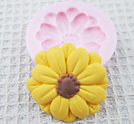 One Hole Sunflower Silicone Mold Fondant Molds Sugar Craft Tools Chocolate Mould  For Cakes