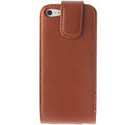 Solid Color Flip-opened Quality PU Full Body Case for iPhone 5/5S (Assorted Colors)