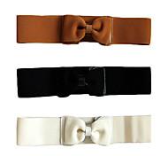 elegante correa de cintura elástica bowknot de las mujeres