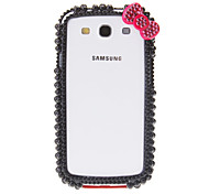 For Samsung Galaxy Case Shockproof / Rhinestone Case Back Cover Case 3D Cartoon PC Samsung S3