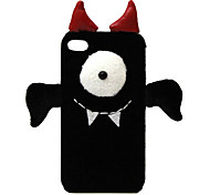 Pure Hand-made Fabric-Coverd 3D One-eyed Cute Devil Designed Hard Case for iPhone 5/5S