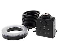 6W 60 светодиодных Белый Свет кольцеобразных лампы-вспышки для Nikon - черный (4 х АА / DC 3.6 ~ 6.7V)