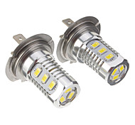 H7 7.5W 15x5730SMD 250-300LM Green Light LED Bulb for Car (10-24V,2pcs)