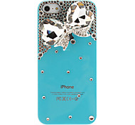 For iPhone 5 Case Rhinestone / Transparent / Embossed Case Back Cover Case Butterfly Hard PC iPhone SE/5s/5