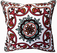 Suzani Flower and Bird Decorative Pillow Cover