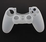 Silicone Case Protector e 2 Grips Polegar da vara para PS4 Controller (Branco)