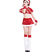Sweet Girl Red Paillette Women's Christmas Costume