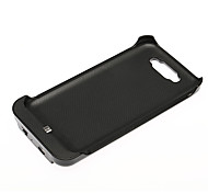 Samsung Galaxy Note 2 N7100 Battery Charger Case With Front Flip Cover 3600mAh - Black
