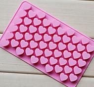 Love Heart Shape Chocolate Tray, Silicone 55 Holes(Color Randoms) CM-87
