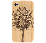 Retro Tree Pattern Wooden Hard Case for iPhone 4/4S
