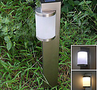 White Light LED Solar Light Stainless Steel Stake Light Garden Lamp