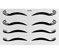 4 Pair Eyeliner Sticker with Spiraling Stripe Makeup