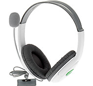 Stereo Headset Headphone + Mic para Xbox 360 (branco)