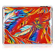 Färben Federn Muster Kunststoff zurück Fall für iPad 2/3/4