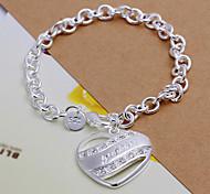 doce de prata pulseira de cobre 20 centímetros feminino (prata) (1 pc)
