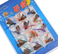 Fliegen / Ködertasche / Angelköder Fliegen / Ködertasche pcs g / <1/18 Unze mm Zoll Verschiedene Farben Metall Spinnfischen