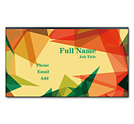 200pcs Personalized 2 Sides Printed Matte Film Graphic Pattern Business Card