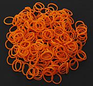 DIY Bandas Naranja Latex Loom pulsera